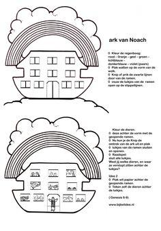 Ark van Noach - welke dieren zitten er achter de luikjes?  www.bijbelidee.nl