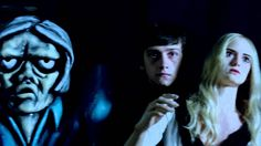 """Winona Ryder (Edward Scissorhands)and Craig Roberts(Submarine) in The Killers music vid for """"Here With Me"""", directed by Tim Burton"""