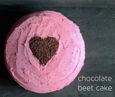 Gluten-Free Chocolate Beet Cake | with naturally dyed pink buttercream frosting