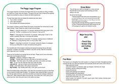 Peggy Leggo Program #handwriting #motorskills