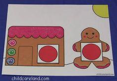 Gingerbread Color Matching Mat