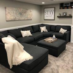 Living room designs – Home Decor Interior Designs Decor Home Living Room, Living Room Grey, Home And Living, Living Room Designs, Bedroom Decor, Home Decor, Modern Living, Cozy Living, Black Living Room Furniture