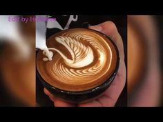 LATTE ART TUTORIAL 2014 | HOW TO DO EASY COFFEE ART ( BLACK & WHITE HEART ) ラテアート - YouTube