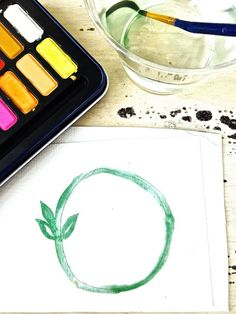 How to Make a Watercolor Wreath - Easy and Fun - 2 Bees in a Pod Green Colour Palette, Green Colors, Wreath Watercolor, Watercolor Flowers, Easy Flower Painting, White Bridal Shower, Quotes About Photography, Rose Tattoos, Flower Arrangements