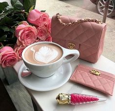 Christian Louboutin Lipstick + Women's Best Makeup Ideas and Tutorials + Chanel Handbag Chanel Handbags, Leather Handbags, Tumblr, High End Handbags, Teen Prom, Flower Bag, Le Havre, Holiday Makeup, I Love Coffee