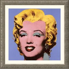 Great American Picture Shot Blue Marilyn, 1964 Silver Framed Print - Andy Warhol - 48773-Silver