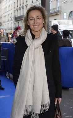 """Anne-Sophie Lapix - Première du film """"La Belle et La Bête"""" à Paris le 9..."""