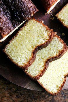 Yotam Ottolenghi's lemon-semolina cake, so so so incredibly delicious