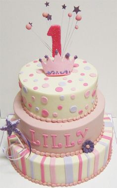 #birthday #birthdaycakes #cake #cakes #one #polkadots #pink