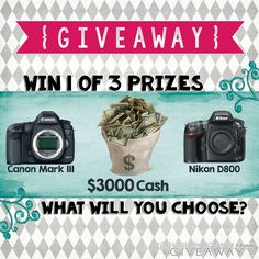 """Please PIN this picture for extra entries! """"Win a Mark III, , 3000 Cash Giveaway! Photography Props, Newborn Photography, Things I Want, My Love, Pictures, Photos, Photo Products, Cash Today, Fun"""
