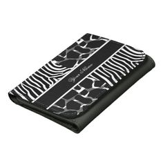 Zebra Leopard Black White Multi Animal Print