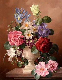 Схема вышивки «kytica,váza» - Вышивка крестом