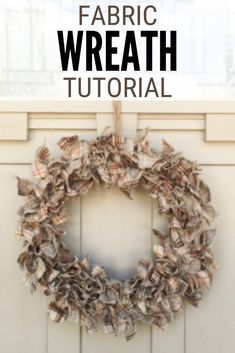 Make a beautiful fabric wreath on a wire frame to hang on your front door! Click here for the step by step tutorial. #thecraftyblogstalker #fabricwreath #fallwreath #fallwreathtutorial #fabricwreathtutorial Fabric Wreath Tutorial, Fall Wreath Tutorial, Diy Wreath, Burlap Wreath, Modern Crafts, Diy Thanksgiving, Diy Party Decorations, Easy Diy Crafts, Fall Diy