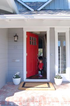 Red Door Grey House 1920s bungalow nz - google search | house colours | pinterest