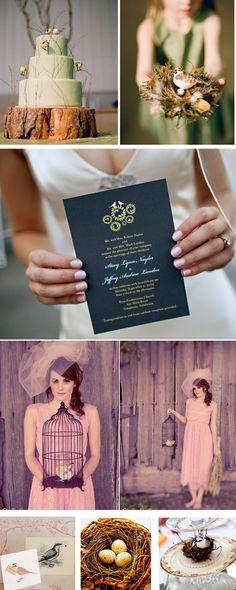 Bird inspired wedding details