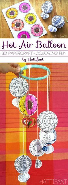 Mandala Hot Air Balloon Decoration - Hattifant