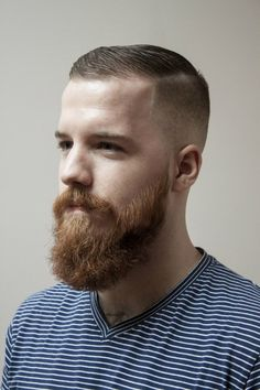 Short Hairstyles For Men With Beard Trimmed #mens #beard  Short #hair  Handsome Sauce Beard Styles
