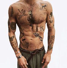 Torso Tattoos, Stomach Tattoos, Hand Tattoos, Sleeve Tattoos, Boy Tattoos, Tatoos, Bow Tattoo Designs, Old School Tattoo Designs, Tattoo Sleeve Designs