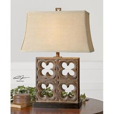 """Uttermost Vettore 28.25"""" H Table Lamp with Rectangular Shade"""