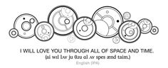 When writing Gallifreyan, when does one space out the circles compared to having it in one? : gallifreyan