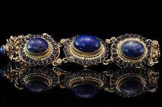 Antique Austro Hungarian Sapphires Lapis Cabochon by EtsyClassic