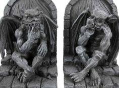 Thinking Gargoyle Bookends
