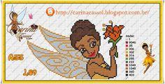 Iridessa Disney Fairies pattern by Carina Cassol - Pontinhos Mágicos