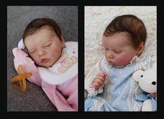 Twins B&A by Bonnie Brown...now Christine and Alexander #LauraCosentino #LauraRebornDolls #BonnieBrown #reborndolls #dolls #newborn