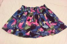 Pink Rose multi colored Skirt womens sizw XL #pinkrose #Mini