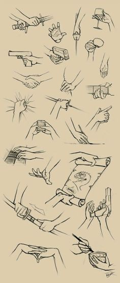 hands positions, holding something