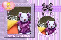 Ursa Ursula, confeccionada em feltro.  Maiores informações mande um e-mail para: artinpanno2013@gmail.com
