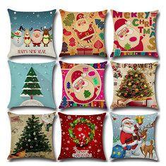 Favorable SOFO Cute Cartoon Cat Cushion Cover Dense Linen Square Throw Pillow Case Sofa Home Decor - NewChic Mobile