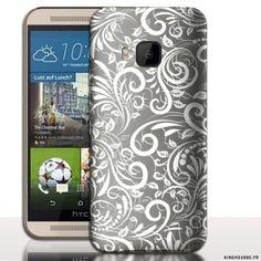 Coque HTC ONE M9 Floral Titanium. #M9 #HTC #One #Floral #Titanium #case #Phonecase #coquetelephone