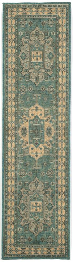 Stylish outdoor rugs for sale, at Hadinger Area Rug Gallery! (Nationwide shipping available.) C36Z 8550/04 Kilim Ocean