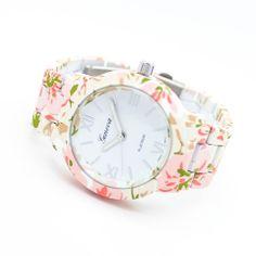 Flower print watch – Imsmistyle.