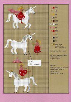 Circus Act with a Unicorn (Many Cross-Stitch Patterns)