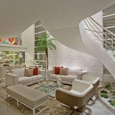 Retrofit Casa Swiss Park Campinas: Salas de estar Moderno por Designer de Interiores e Paisagista Iara Kílaris