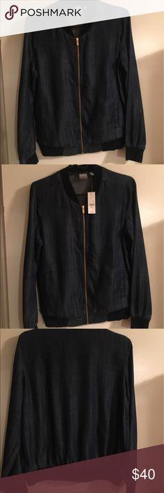 Bomber Style Jacket New with tags, bomber style jacket - denim color, size small New York & Company Jackets & Coats