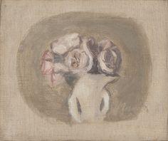 Giorgio Morandi, Fiori, 1950 – olio su tela, cm 20×22,5 – collezione privata