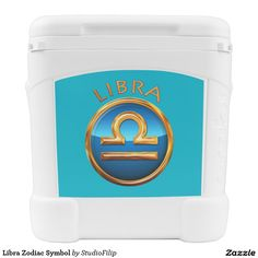 Libra Zodiac Symbol Igloo Roller Cooler | 30% OFF Spooktacular Essentials: coasters, favor boxes, wine charms, serving trays, posters, tablecloths, table runners, plates, platters, packs of cake pops, packs of cookies, chocolate boxes, frosting rounds, invitations, greeting cards, photo cards, postcards, and/or cheese boards - USE Code ZSPOOKYSCARY | 15% Off All Other Zazzle Products. | Valid through October 8, 2015 at 12:59:59 PM PT