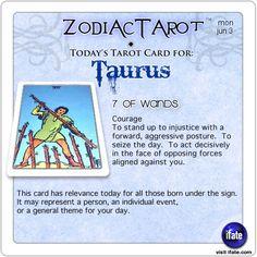 Todays Taurus tarot card: Hey Taurus, follow us for horoscopes every day!