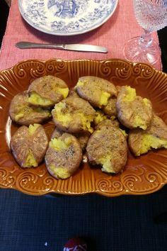 Batatas assadas a murro
