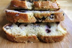 Blueberry cream chese bread. I think I'll be trying strawberries instead.
