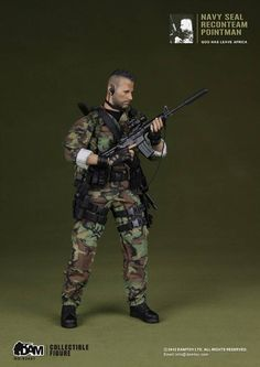 onesixthscalepictures: DAM Toys NAVY SEAL Recon Team Pointman : Latest product news for scale figures inch collectibles) from Sidesh. Small Soldiers, Toy Soldiers, Gi Joe, Special Operations Command, Us Navy Seals, Military Action Figures, Special Forces, Us Army, Guns