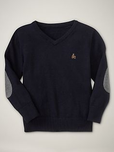 elbow patch v neck sweater.  Gap