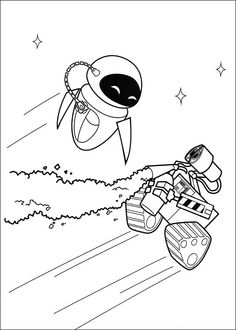 Wall-E Tegninger til Farvelægning. Printbare Farvelægning for børn. Tegninger til udskriv og farve nº 54