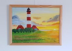 2015 - Leuchtturm Öl auf Pappleinwand 30 x 40 cm   #Ostsee #Summerfeeling #Ölgemälde #KunstaufLeinwand #Kirsche-Art Painting, Art, Art On Canvas, Cherry, Art Pictures, Lighthouse, Baltic Sea, Art Background, Painting Art