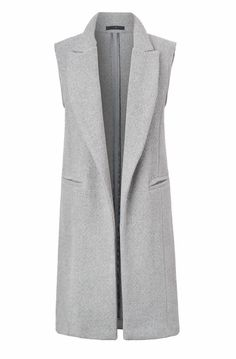 Light gray wool vest with front welt Virgin wool CashmereDry clean onlyMade in the U. Casual Hijab Outfit, Vest Outfits, Warm Outfits, Wool Vest, Hijab Fashion, Fashion Dresses, Maxi Skirt Tutorial, Sleeveless Coat, Winter Vest