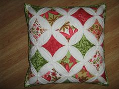 Cathedral quilt pillow