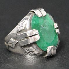 925 Sterling Silver Unique Handmade Men's Ring by KaraJewelsTurkey, $165.00